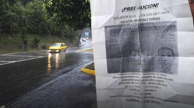 """A través de carteles alertan sobre """"violador suelto"""" en Los Salias"""