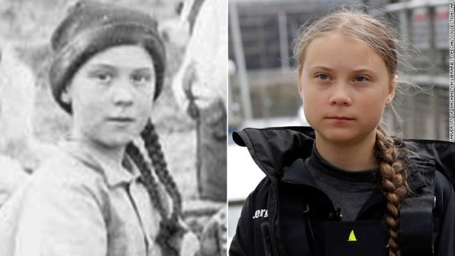 Greta Thunberg tiene una 'doppelganger' (doble) del siglo XIX