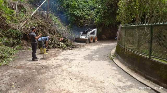 Alcaldía de Los Salias ha atendido más de 40 derrumbes dejado por las lluvias
