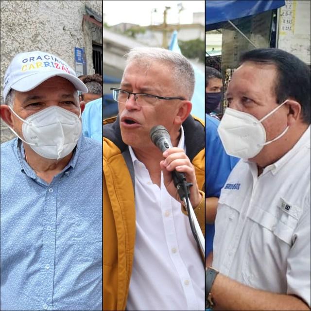 Morales, Fernández y Rodríguez son los candidatos de la MUD en Carrizal, Los Salias y Guaicaipuro