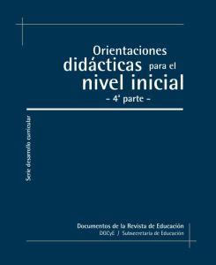 orientaciones didacticas nivel inicial