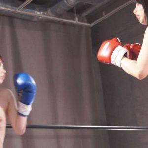 身長差18cm巨乳丸出し川菜美鈴&吉良薫トップレスボクシング!