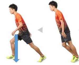 前傾姿勢-走り