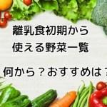 離乳食初期 野菜