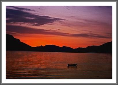 Sonnenuntergang am Eismeer