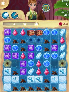 アナと雪の女王 Free Fall 無限 ステージ48 攻略のコツ