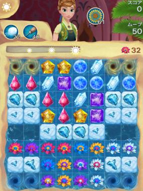 アナと雪の女王 Free Fall 無限 ステージ62 攻略のコツ