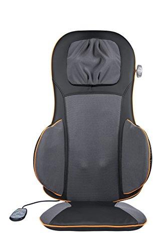 Medisana MC 825 Shiatsu-Massagesitzauflage 88939, Massageauflage mit Akupressur, Massagefunktion, mit verstellbarer Nackenmassage und Wärmefunktion, zur Entspannung für Rücken und Nacken
