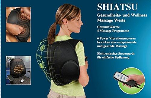 Shiatsu Massageweste Original Shiatsu Wellness Massage Wärmetherapie 6 Motoren