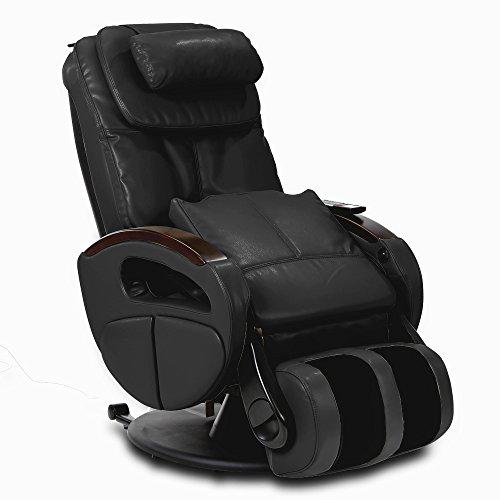 Massagesessel »Komfort Deluxe« mit elek. Aufstehfunktion, Shiatsu-Massage, Wärmefunktion, 4 Massagetechniken, 6 Massagezonen, Transportrollen, inkl. Kopf- & Nackenkissen (Schwarz)