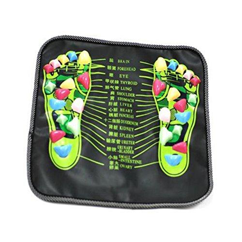 ROSENICE Fußmassage Mat Walk Stone entspannenden Druck Muskelschmerzen entlasten (schwarz)