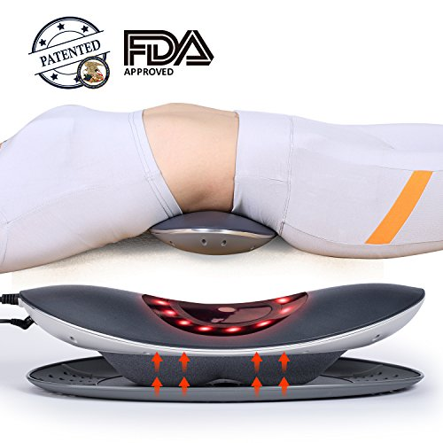 Hangsun Rückenmassagegerät Elektrische Lumbale Traktion ML90 Taille Wirbelsäule Bahre Shiatsu Kissen Untere Rückenschmerzen Relief mit Luftdruck, Heizung/Virbring Massage