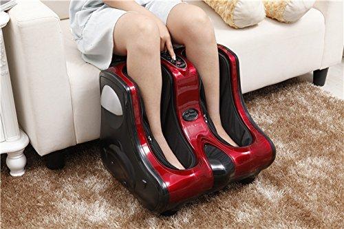 Keraiz Fuß-, Bein-, Wadenmassagegerät, Fußschritt, automatische Knete, Shiatsu-Kneten, Rollen, Fußgelenk, Wadenmassagegerät mit Heiz- und Vibrationsfunktion