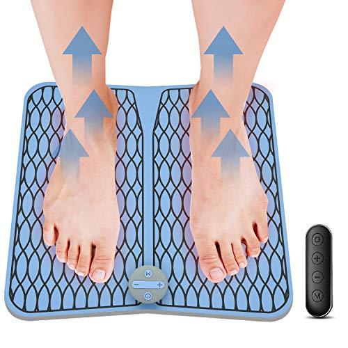 Elektrische Fußmassageräte Vigorun Niederfrequenzimpulse Muskelstimulation (EMS-Technologie) Fußmassagekissen, Intelligente Physiotherapie Massagegerät zur Verbesserung der Durchblutung