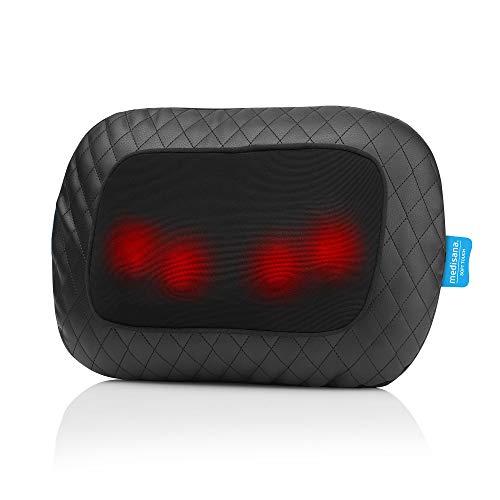 Medisana MCG 800 Gel-Massagekissen, Wärmefunktion, 4 rotierende Gel-Massageköpfe, Rotlichtfunktion, mit Stuhlfixierung, für Nacken, Schulter, Rücken und Beine