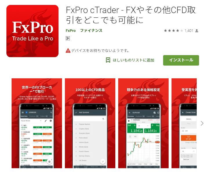 FxPro cTrader