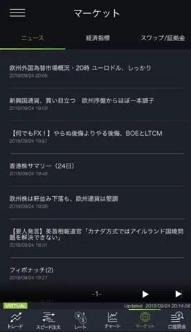 スマートフォンアプリ DMMFX