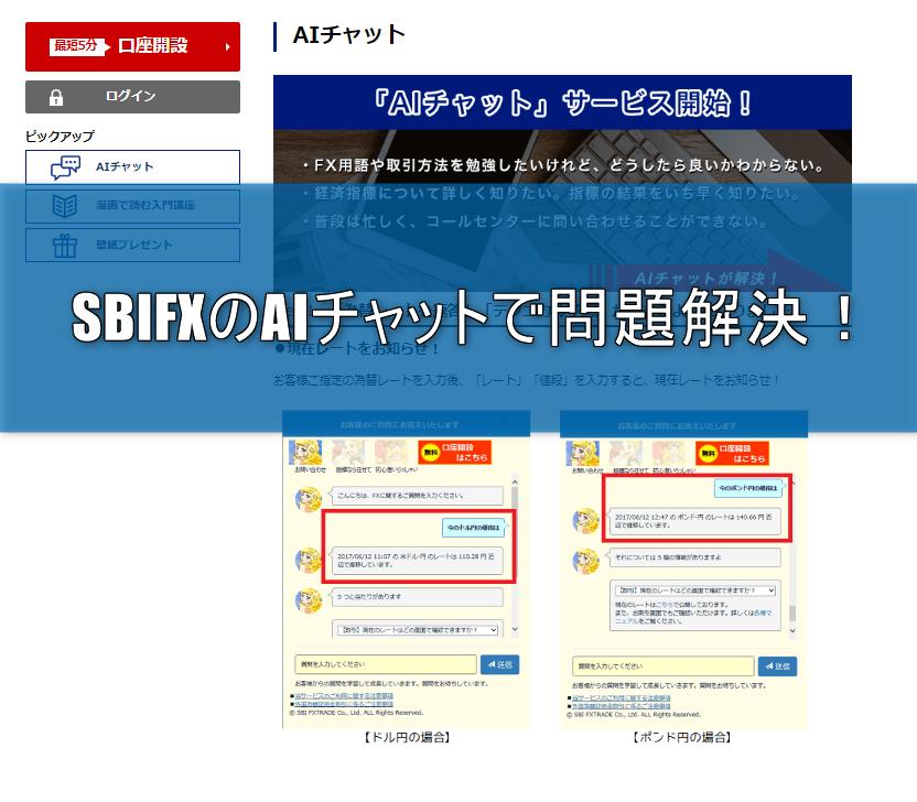 SBIFXのAIチャットでわからないことを素早く解決!