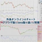 外為オンラインのチャートのブラウザ版とJava版の違いと特徴