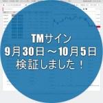 みんなのFXの「TMサイン(テキストマイニングサイン)」9月30~10月5日までを検証