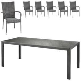 ᐅᐅ Santiago New 8 Sessel 1 Tisch Rattan Grosse Auswahl Top