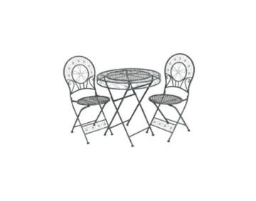 ᐅᐅ Retro Tisch Mit 2 Stuhlen Hellgraues Metall Grosse