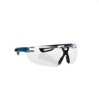 Uvex X-fit Pro Schutzbrille Klar Blauer Bügel 1