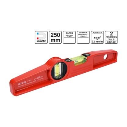 Yato-Magnet-Wasserwaage-25-cm-Rot 3