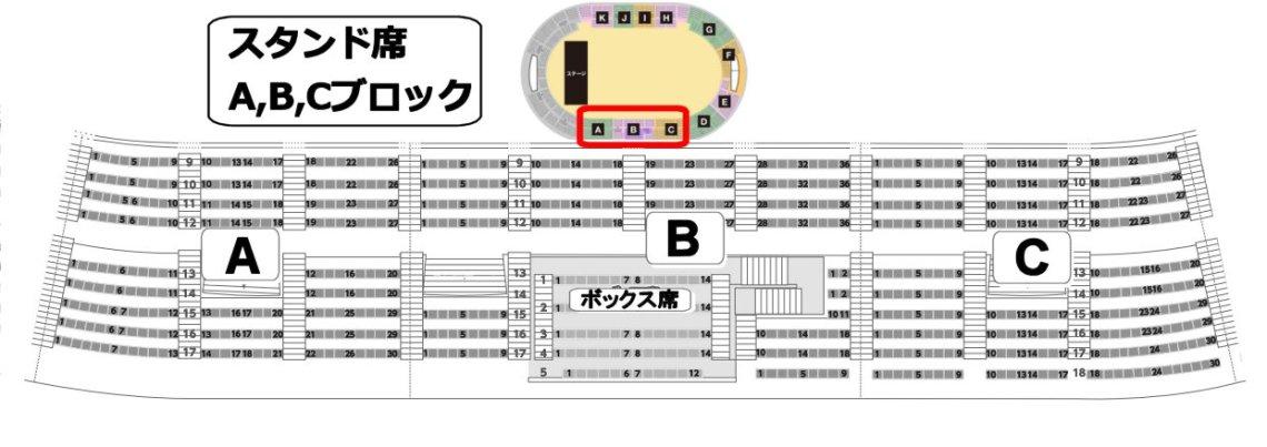 神戸ワールド スタンド席 A、B、Cブロック