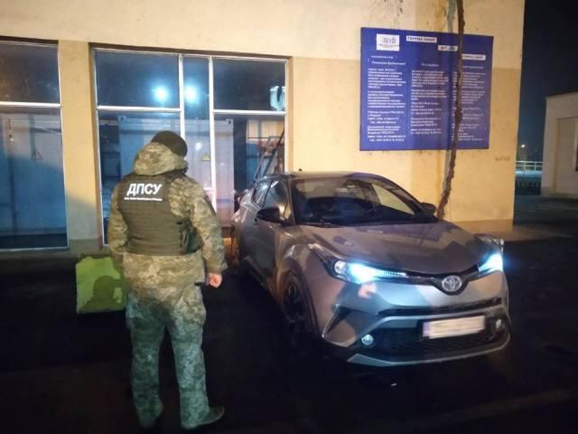 На границе в Одесской области задержали дорогую иномарку, украденную во Львове. Фото