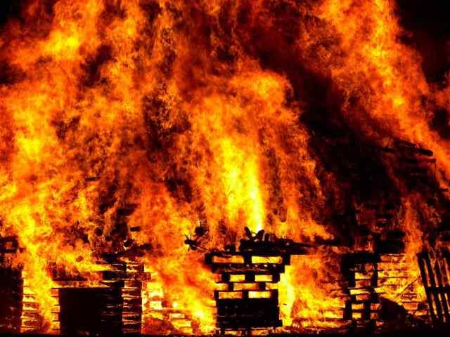 Под Одессой сгорела баня
