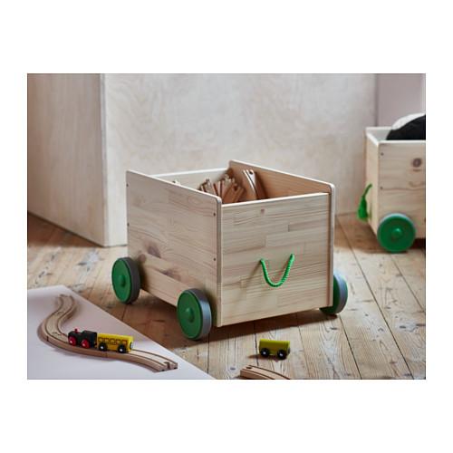FLISATおもちゃ収納キャスター付き。子どものおもちゃ箱として人気のIKEAシリーズ