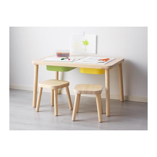 FLISAT子供用テーブル、おもちゃ収納もできるIKEAの子供用テーブル
