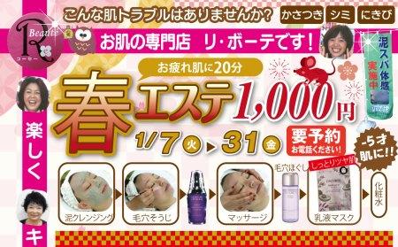 お肌の専門店【登米市迫町】リ・ボーテです!こんな肌トラブルありませんか?かさつき・シミ・にきび・・・