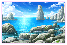 岩の多い海岸