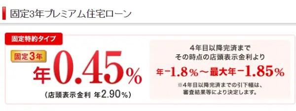 例:三菱UFJ銀行の場合