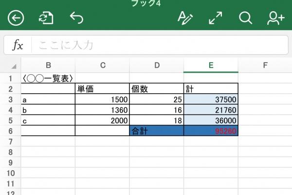 サンプルデータ