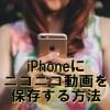 iPhoneにニコニコ動画を保存する方法!Clipboxや専用アプリで簡単に【無料】