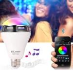 電球スピーカーがすごい!iPhoneアプリからbluetoothで操作可能【おすすめレビュー】