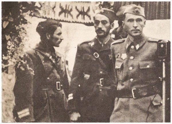 Партизански генерал Коста Нађ у јединици
