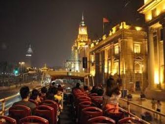 上海夜景オープントップバス
