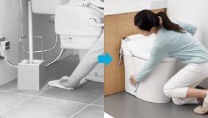 面倒なトイレ掃除も簡単らくらく!
