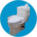 トイレの水が流れ