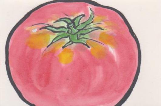 トマトの絵ー7