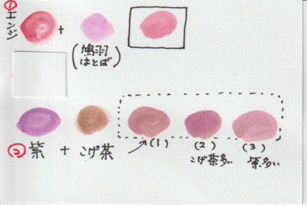 サツマイモの2つの色見本。