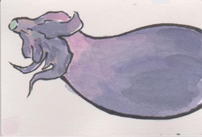 茄子(ナス)の絵ー3