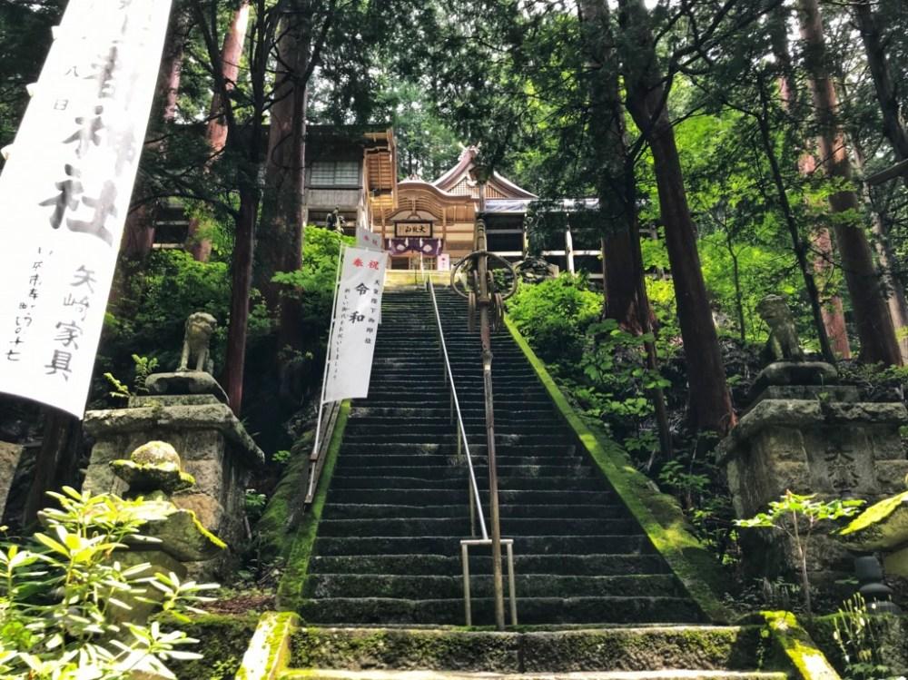 山梨県山梨市の大嶽山那賀都神社の本殿