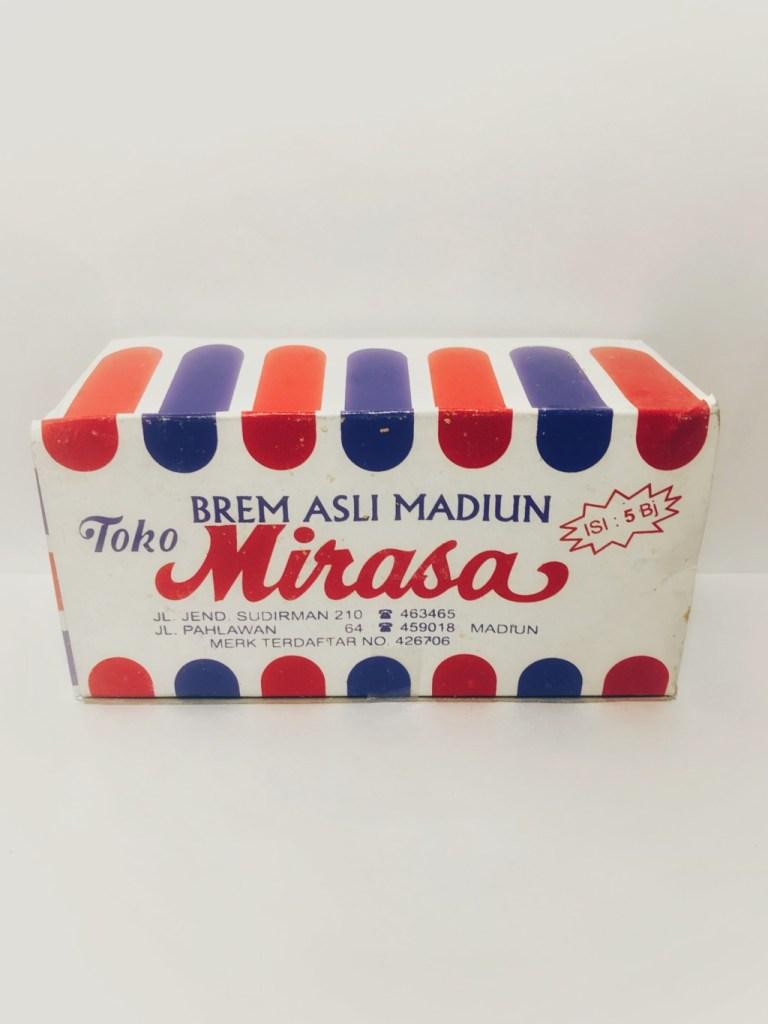インドネシアの甘酒菓子でMirasaの『BREM ASLI MADIUN』