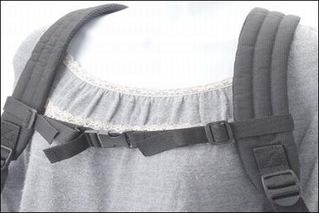リュック バックパック デイパック リュックサック ザック チェストストラップ チェストベルト 装着時 イメージ図 写真 画像 ザノースフェイス シャトルデイパック NM81602