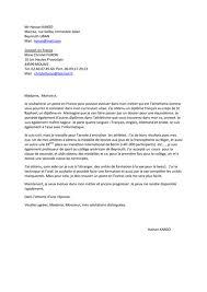 lettre de motivation en français